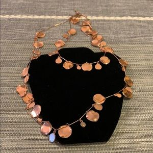 Anthropologie copper jingle necklace